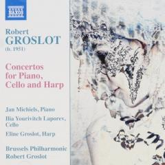 Concertos for piano, cello and harp
