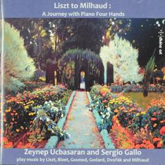 Liszt to Milhaud : A journey with piano four hands