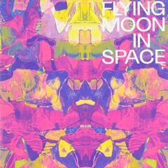Flying Moon in Space